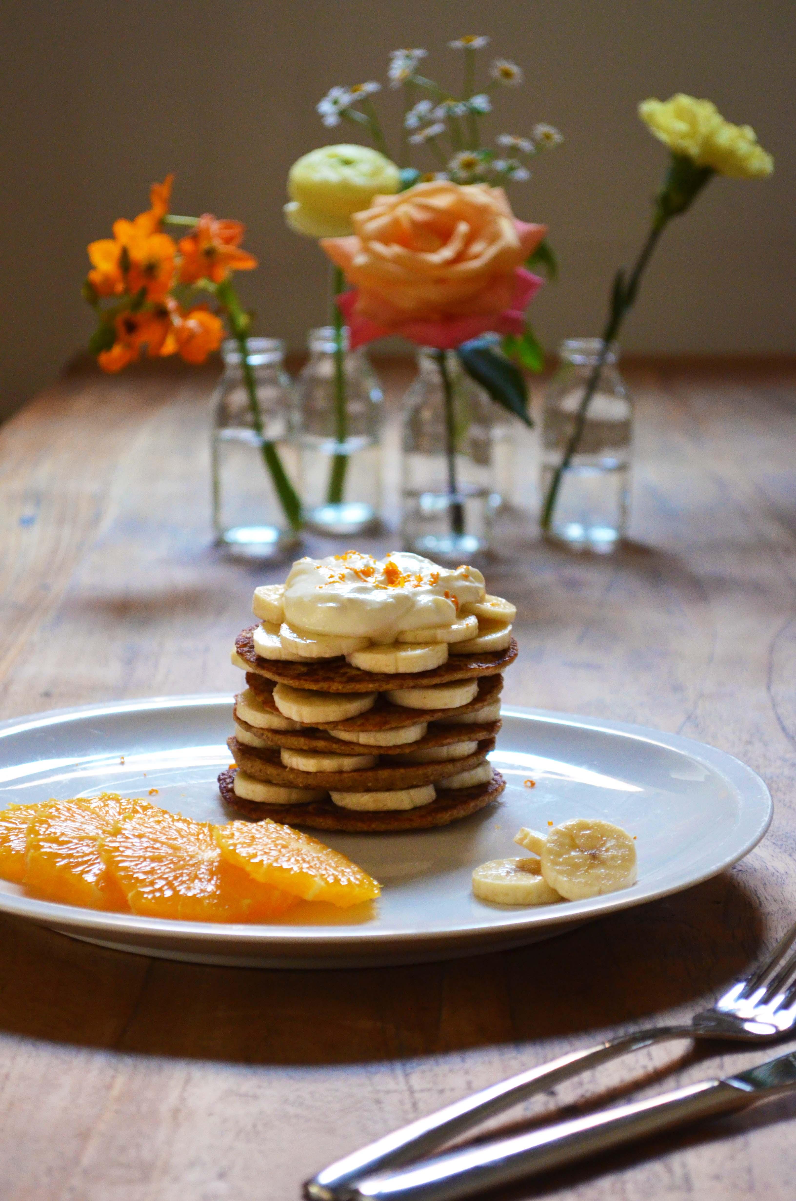 Orange Banana Pancakes