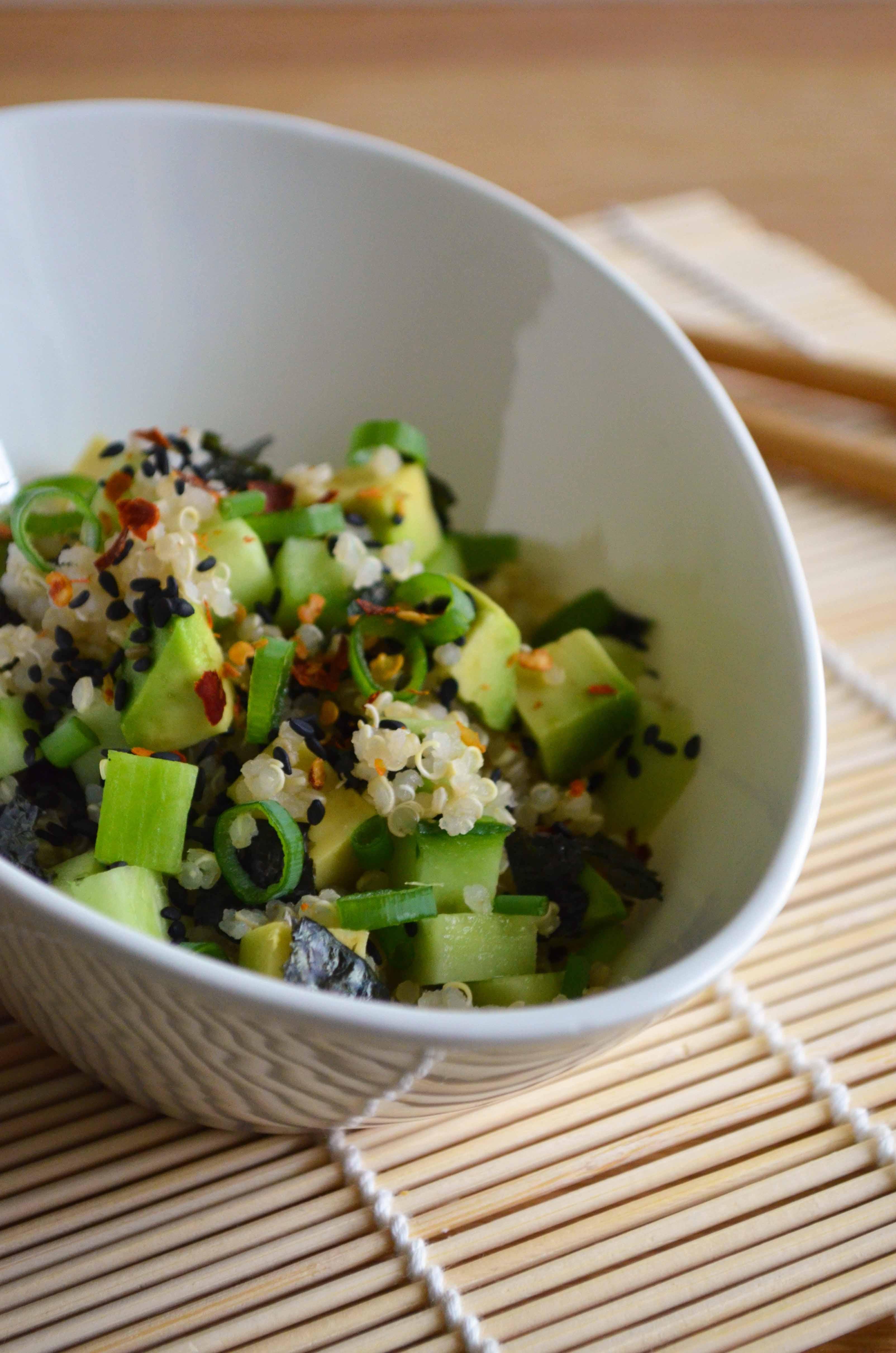 Quinoa Sushi Bowl Salad