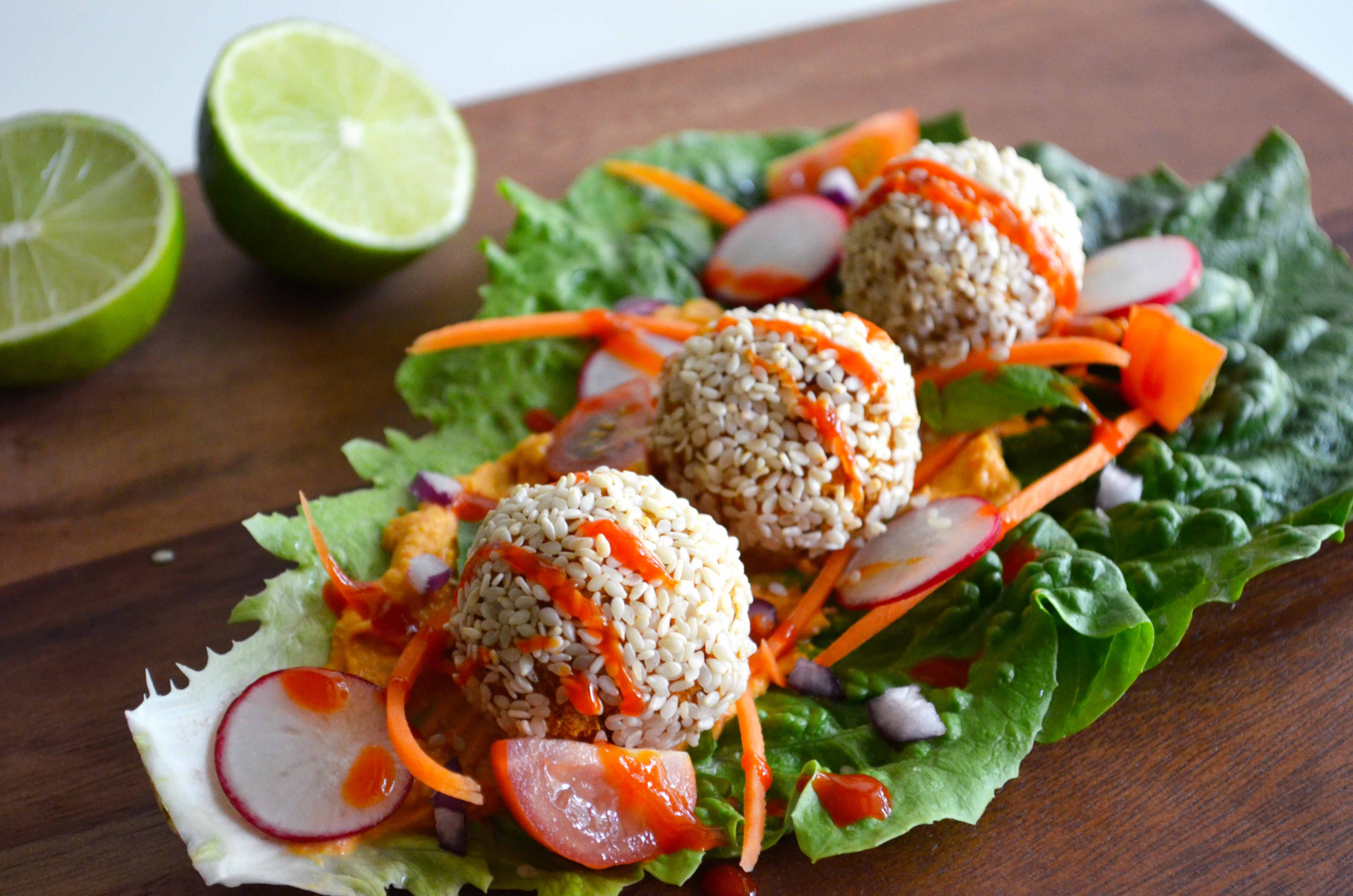 Sweet Potato and Lemon Baked Falafel
