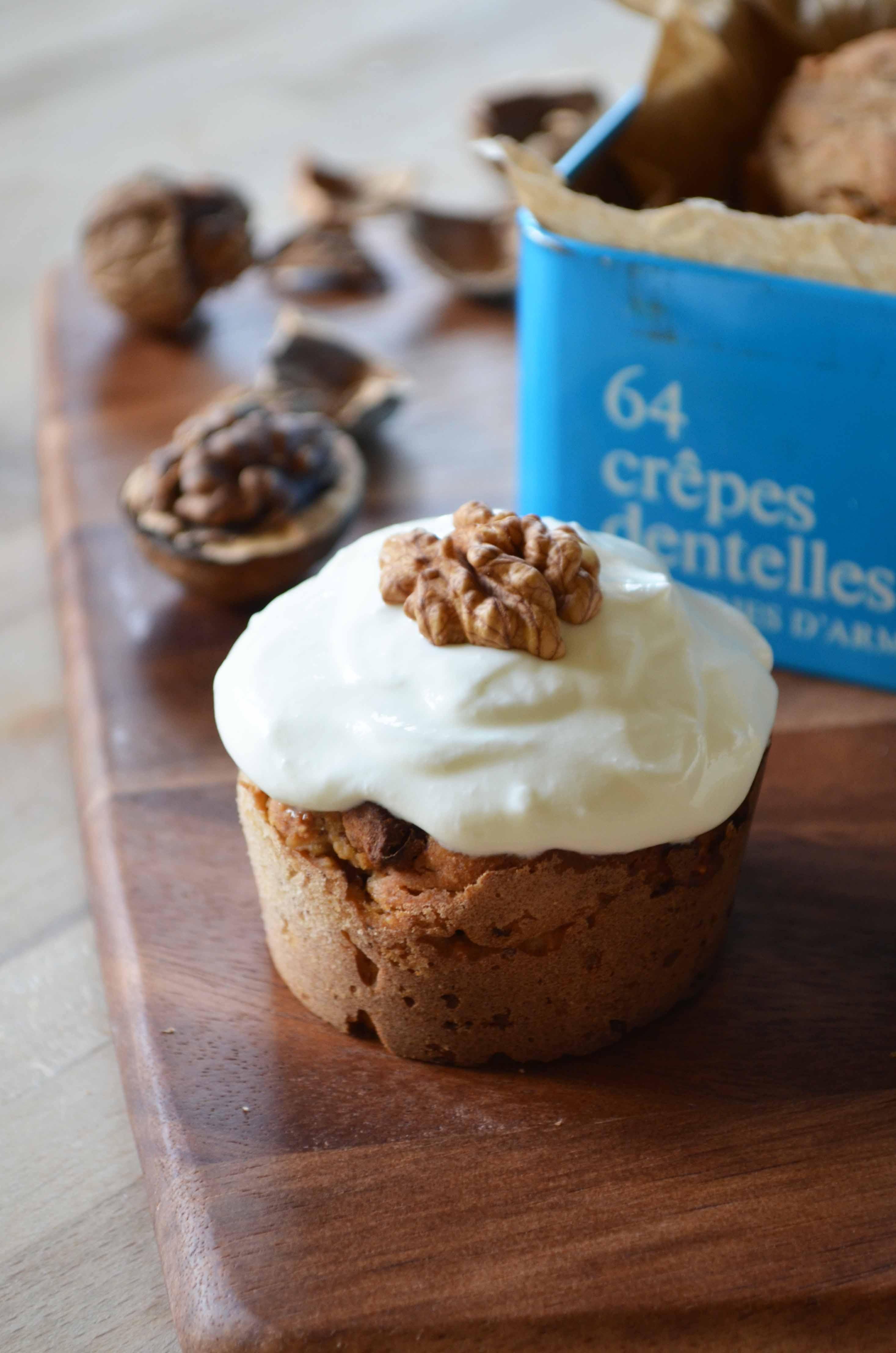 Apple Muffins with Walnuts, Cinnamon and Zante Currants
