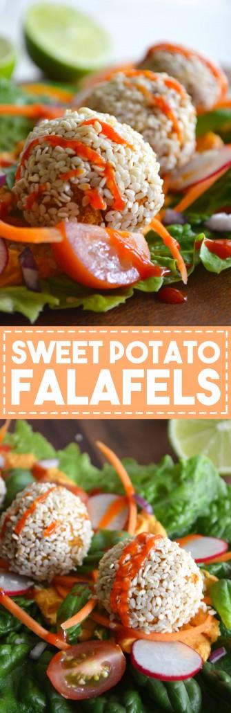 Lemon & Sweet Potato Falafels - Healthy, delicious and easy!!