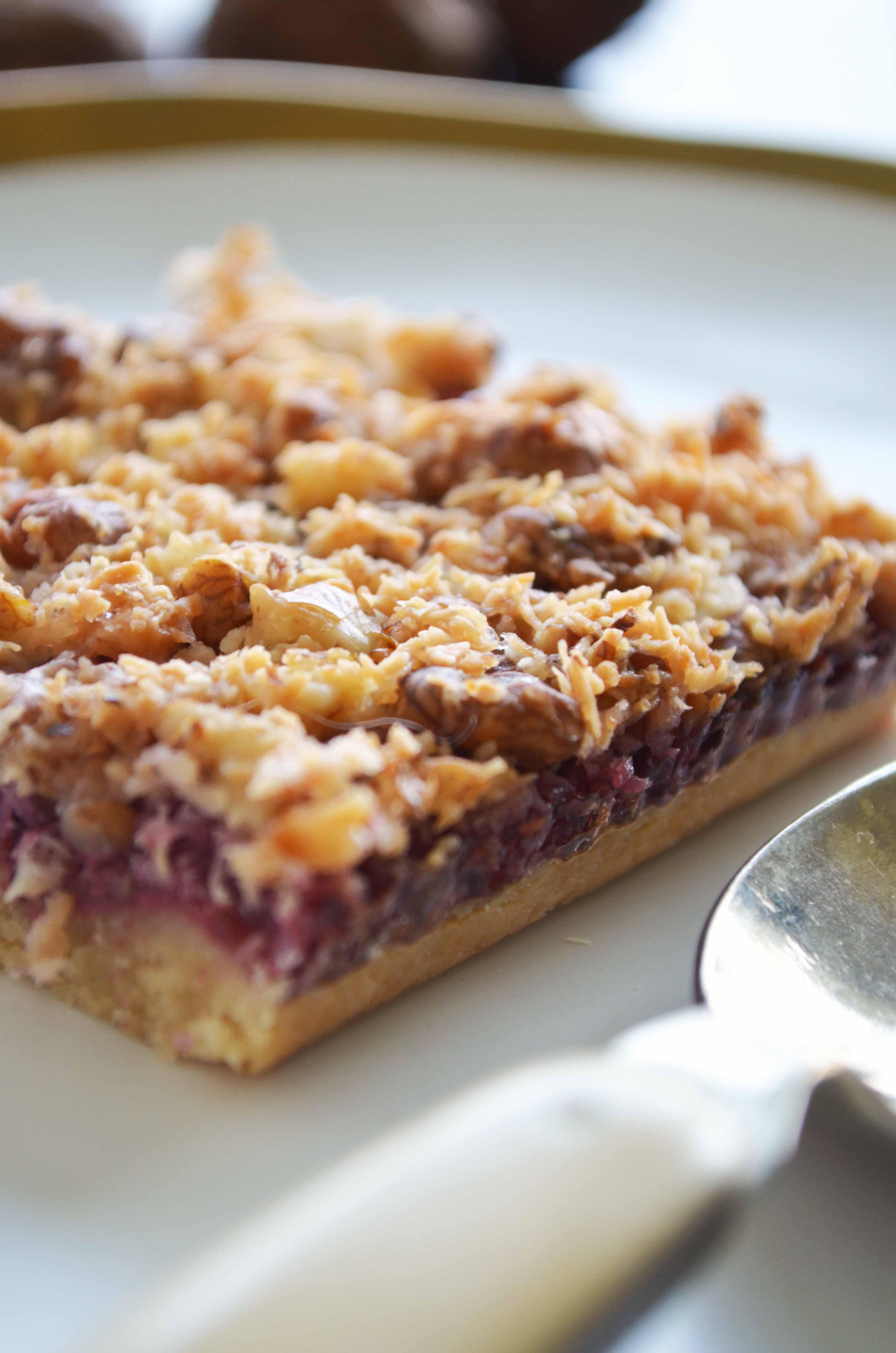 Nutty Raspberry Streusel Bars
