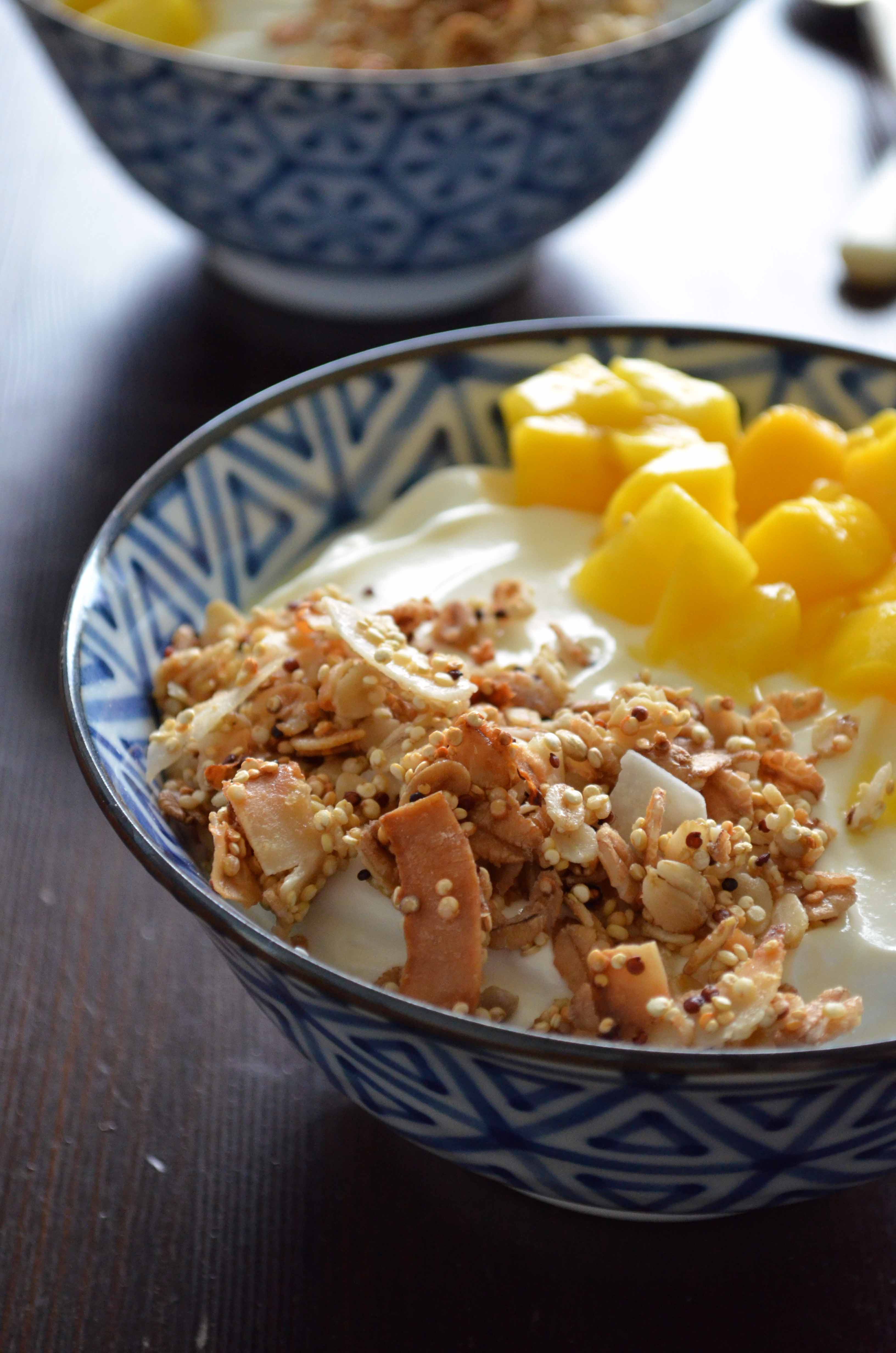 Super Crunchy Coconut Quinoa Granola