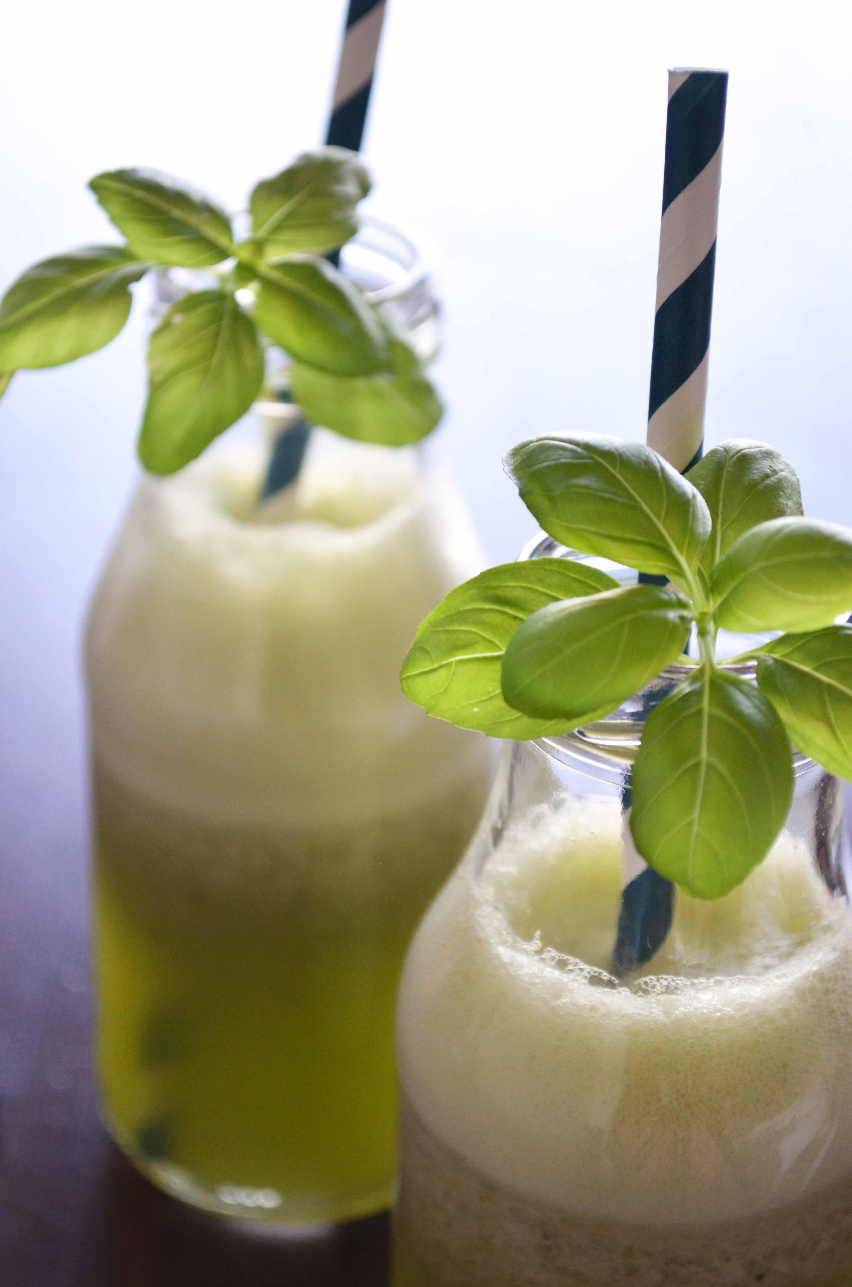 Frosty Basil Lemonade Smoothie