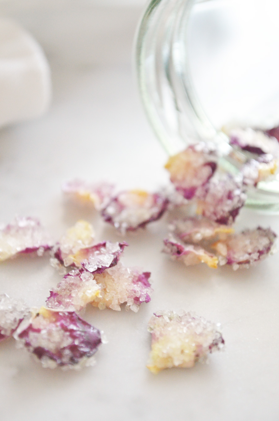 How to make vegan candied rose petals