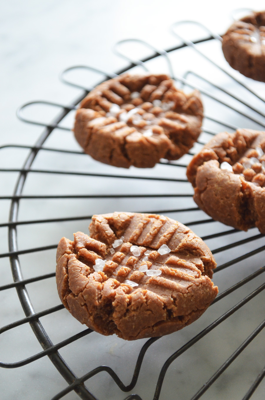 Lighter Salted Peanut Butter Cookies