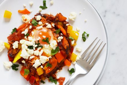 Recipe for Middle-Eastern Shakshuka with feta